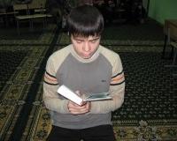 Ибрагим Бурханов открывает викторину чтением Корана