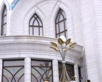 Президент Р.Т. М. Шаймиев на торжественном открытии мечети Кул Шариф.