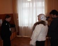 Лилия Ярулина берет интервью у чтеца из Мордовии