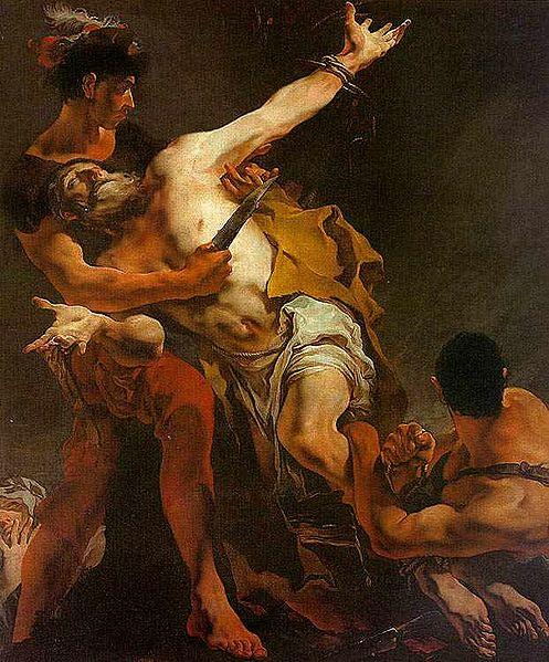 Страдания апостола Варфоломея. Джованни Тьеполо, 1722 год