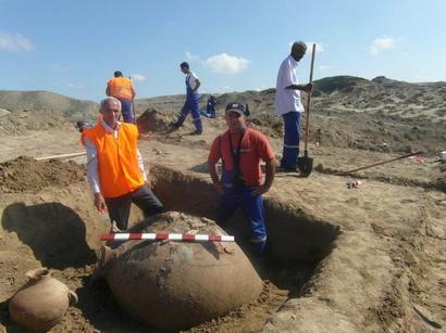 Археологические раскопки в Барде, Азербайджан