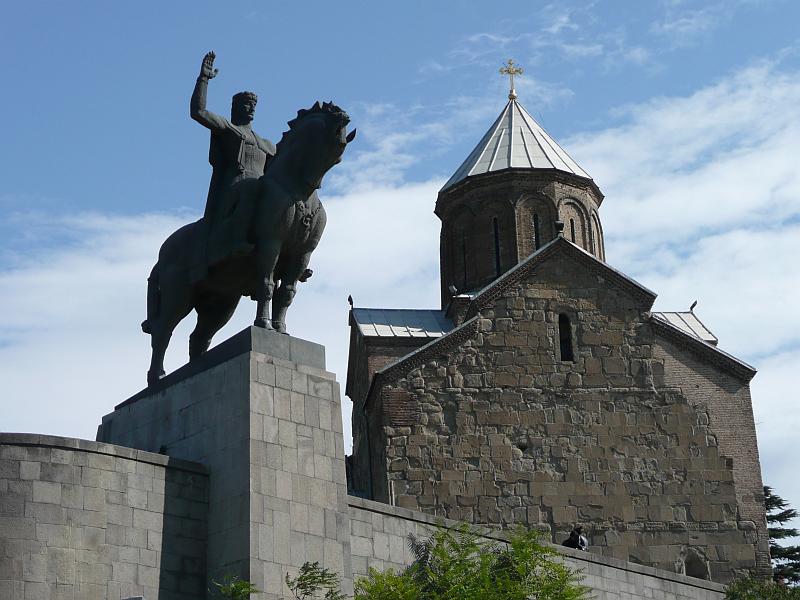 Памятник царю Вахтангу I Горгасали, Грузия