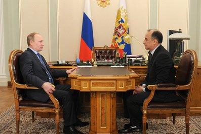 Встреча Владимира Путина с Юрием Коковым