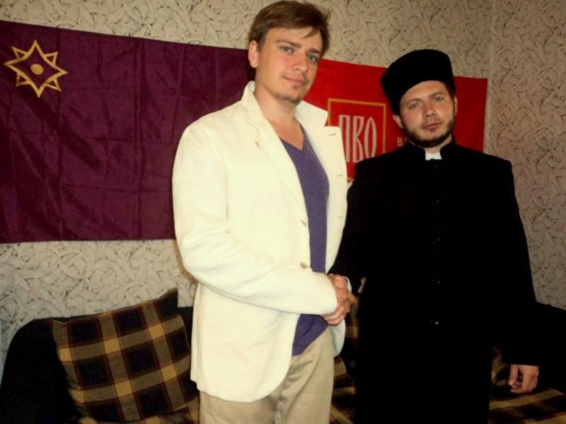 Т. Чолханов и Юрий Кофнер, лидер дфижения «Молодая Евразия»
